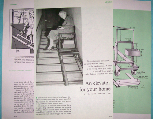 Photo of Plans for a Stairway Lift / Stairway Elevator