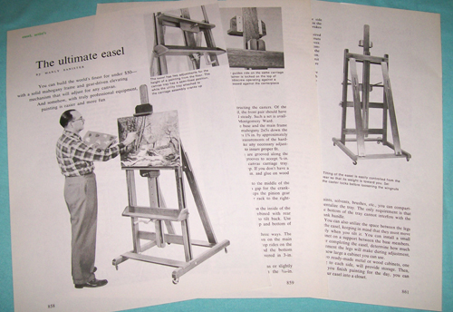 Photo of Plans for a Large Adjustable Artist's Easel