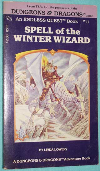 TSR - Endless Quest Book 1 - Spell of the Winter Wizard, Paperback