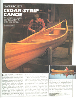 Photo of front cover of Cedar Strip Canoe Plans