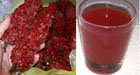 Staghorn Sumac Pods and Finished Product - Juice