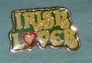Photo of Irish Lover Pin - Costume Jewelry, used.
