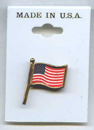 Photo of U. S. Flag Pin - New.