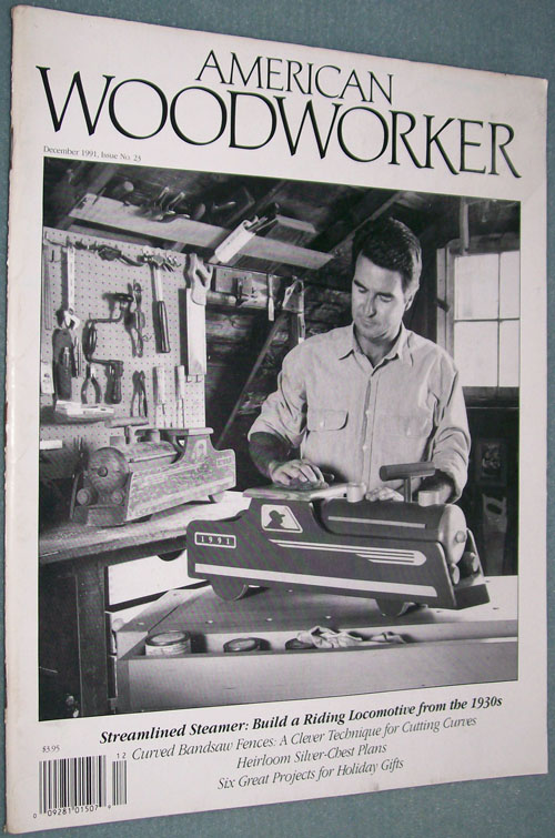 Photo of American Woodworker Magazine - December 1991, front cover.