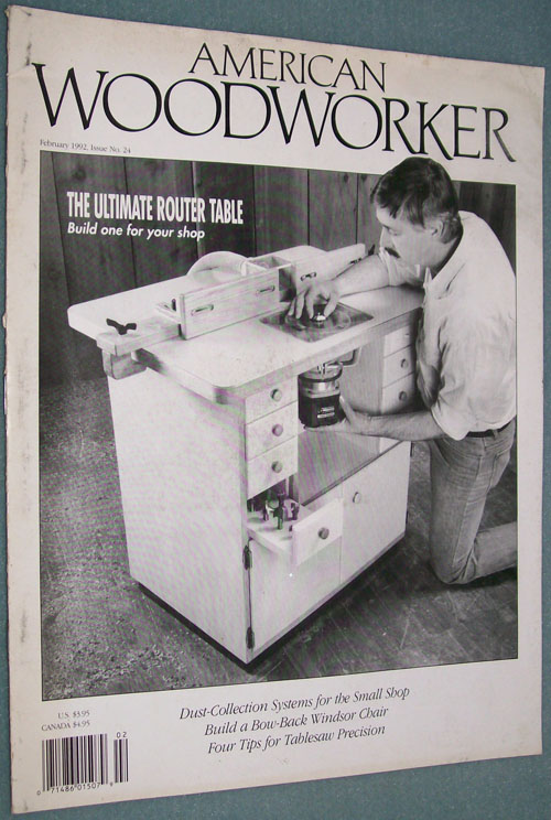 Photo of American Woodworker Magazine - February 1992, front cover.
