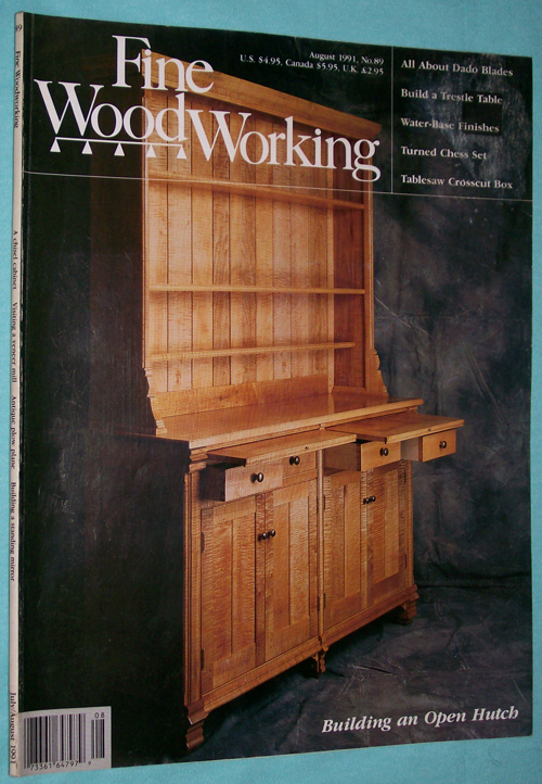 Description Fine Woodworking Magazine August 1991 Used Very Good