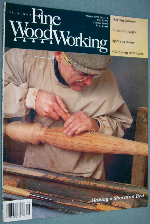 Photo of Fine Woodworking Magazine - August 1995, front cover.