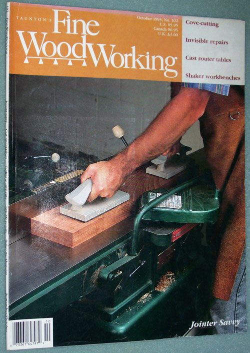 Photo of Fine Woodworking Magazine - October 1993, front cover.