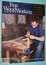 Photo of Fine Woodworking Magazine - January / February 1989, front cover.