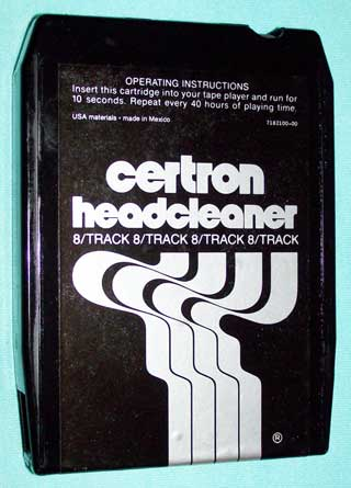 Photo of 8 track Head Cleaner tape cartridge - Certron