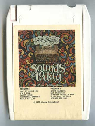 Photo of 8 track tape cartridge, 101 Strings - Sounds of Today, front