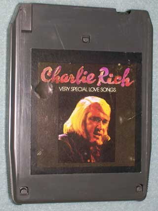 Photo of 8 track tape cartridge, Charlie Rich - Very Special Love Songs, front