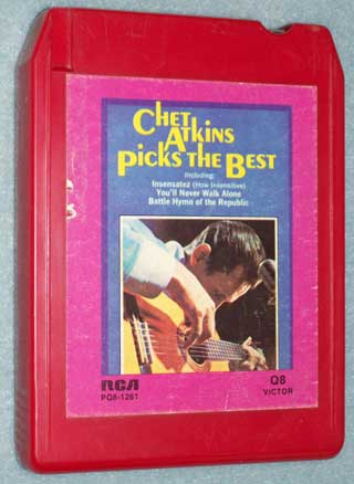 Photo of 8 track tape cartridge, Chet Atkins - Picks The Best, front