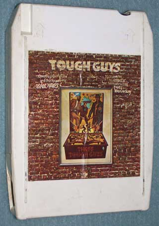Photo of eight track quadraphonic tape cartridge - Isaac Hayes, Tough Guys - front
