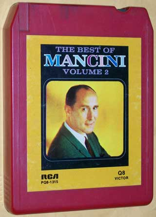 Photo of Quad 8 track tape - Henry Mancini, The Best Of - Volume 2 - front