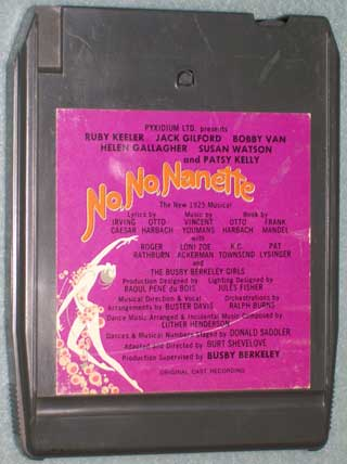 Photo of eight track quadraphonic tape cartridge - No, No, Nanette, front