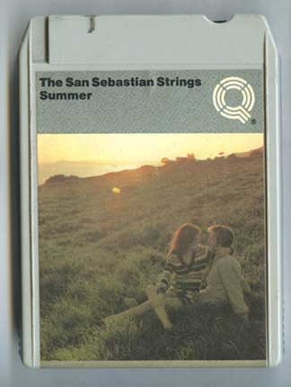 Photo of 8 track tape cartridge, San Sebastian Strings, front