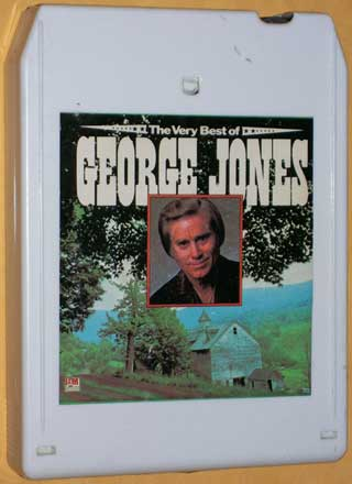 Photo of Stereo 8 track tape - The Very Best Of George Jones, front