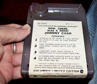 Photo of eight track tape cartridge - Johnny Cash, Now There Was A Song, bottom