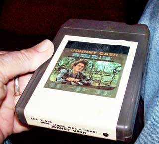 Photo of eight track tape cartridge - Johnny Cash, Now There Was A Song, top