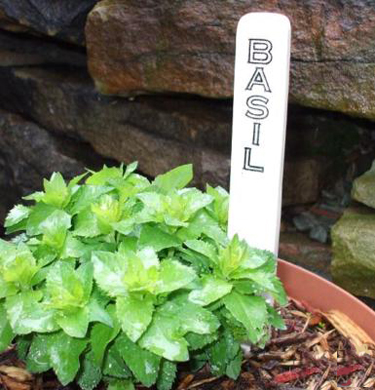 Photo showing an example of a Custom Ceramic Garden Marker