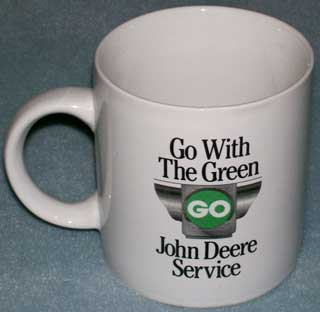 Photo of Coffee Cup / Mug - John Deere Service - Go With The Green - Model 'D' 1924-1953 - right side