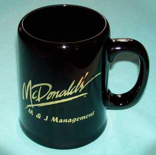 Photo of McDonald's Stoneware Coffee Mug / Tankard - left side