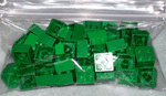Photo of Lego Building Blocks - Green - 50 count