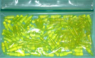 Photo of a bag of 125 Yellow Lite-Brite Pegs