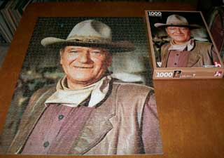 Photo of a John Wayne 1000 piece Jigsaw puzzle