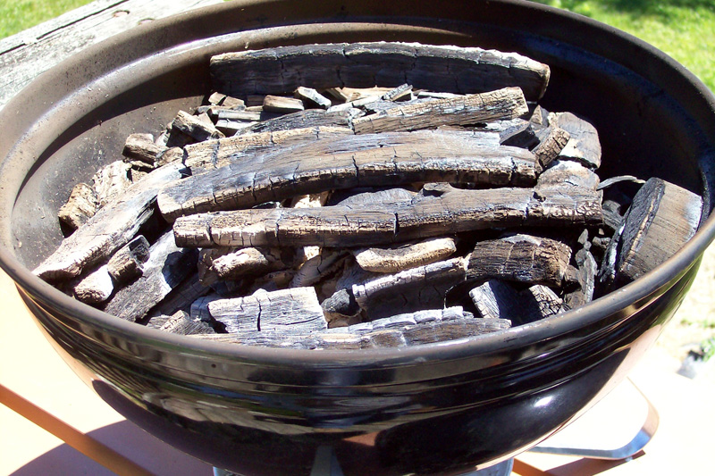 photo of a completed batch of small sized lump charcoal.
