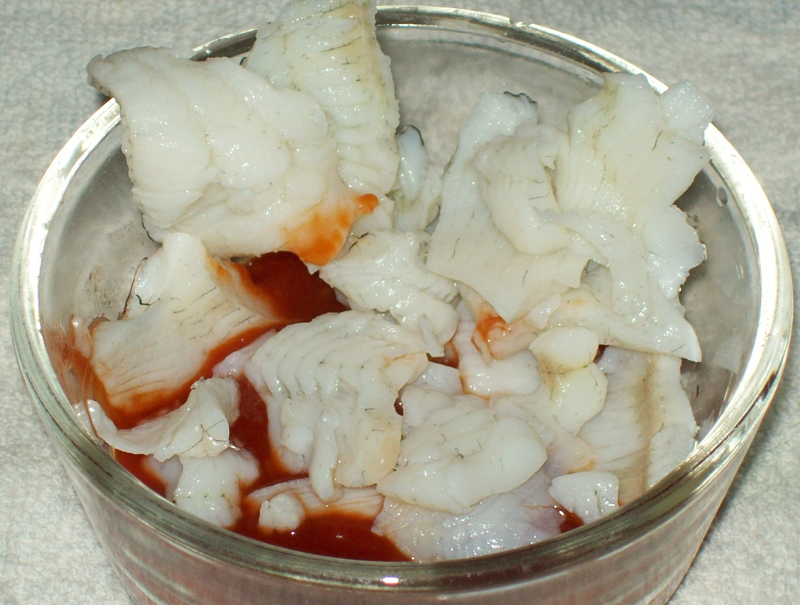 photo of Faux Shrimp Cocktail from Bluegill Fillets.
