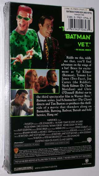 Photo of Batman Forever, VHS, New  Sealed - rear