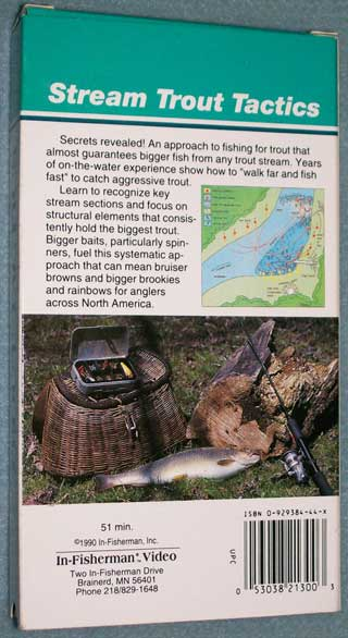 Photo of VHS tape Stream Trout Tactics by In-Fisherman