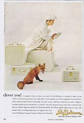 Photo of Lady Baltimore Luggage Ad, an unframed page from 1958 magazine
